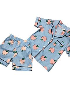 billige Undertøj og sokker til piger-Baby Pige Trykt mønster Frugt Nattøj