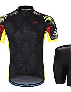 billige Sett med sykkeltrøyer og shorts/bukser-Arsuxeo Herre Kort Erme Sykkeljersey med shorts - Svart Sykkel Klessett, 3D Pute