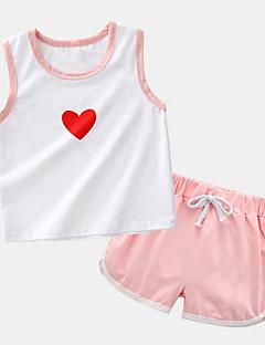 billige Tøjsæt til drenge-Børn Drenge Trykt mønster Uden ærmer Tøjsæt