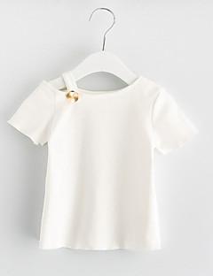 billige Pigetoppe-Børn Pige Trykt mønster Kortærmet Bluse