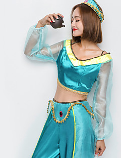 aa17905bff Princess Jasmine Cosplay Costume Christmas Halloween Carnival Festival    Holiday Blue Carnival Costumes Solid Color Fashion