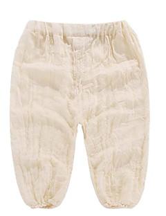 billige Bukser og leggings til piger-Baby Unisex Ensfarvet Bukser