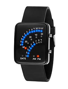 billige Digitalure-Herre Dame Digital Watch Digital 30 m Vandafvisende LCD 3D-tegneseriefigur Silikone Bånd Digital Sej Elegant Sort / Hvid / Blåt - Sort Rød Blå Et år Batteri Levetid