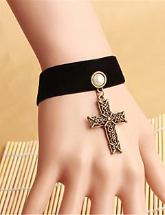 billiga Lolitaaccessoarer-Gotiskt Svart lolita tillbehör Vintage Armband / Fotledsband Velour