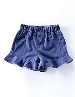 billige Babyunderdele-Baby Pige Basale Ensfarvet Bomuld Jeans / Basale / Baby