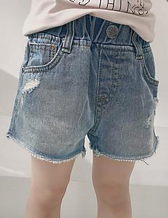 billige Bukser og leggings til piger-Børn Pige Ensfarvet / Regnbue Bukser
