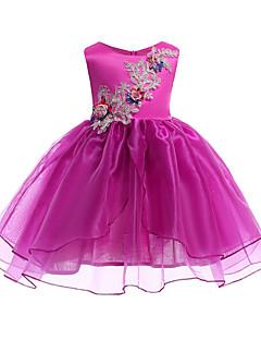 billige Pigekjoler-Børn Pige Ensfarvet / Blomstret Uden ærmer Kjole
