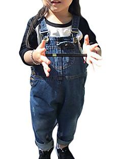 billige Bukser og leggings til piger-Baby Pige Drenge Ensfarvet Overall og jumpsuit