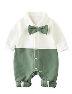 billige Babytøj-Baby Unisex Farveblok Langærmet En del