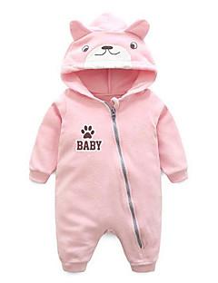 billige Babytøj-Baby Unisex Geometrisk Langærmet Overall og jumpsuit