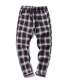 billige Herrebukser og -shorts-Herre Aktiv Chinos Bukser Ruter