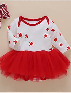 billige Babykjoler-Baby Pige Geometrisk Langærmet Kjole