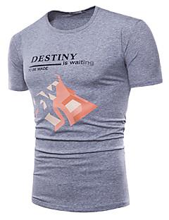 billige Herre Mode Beklædning-Herre - Geometrisk Basale T-shirt
