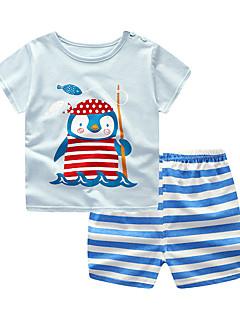 billige Tøjsæt til piger-Baby Unisex Ensfarvet / Stribet / Farveblok Kortærmet Tøjsæt