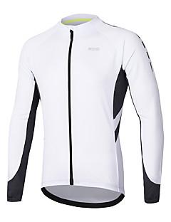 billige Sykkelklær-Arsuxeo Herre Langermet Sykkeljersey - Mørkegrå / Blå / Grå Sykkel Jersey, Refleksbånd Polyester / SBS glidelås