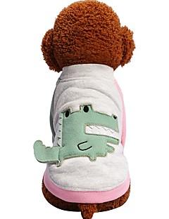 billiga Hundkläder-Hund Katt Husdjur T-shirt Hundkläder Färgblock Figur Djur Grön Rosa Bomull / Polyester Kostym För husdjur Dam Djur Mode