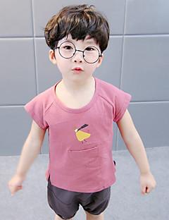 billige Tøjsæt til drenge-Børn Drenge Ensfarvet Trykt mønster Kortærmet Tøjsæt