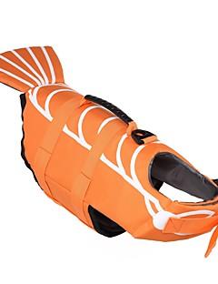 billiga Hundkläder-Hund Livväst Hundkläder Enfärgad Djur Orange Vattentätt Material Terylen Kostym För husdjur Djurmönstrad Minimalistisk Stil