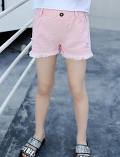 billige Bukser og leggings til piger-Børn Pige Ensfarvet Jeans