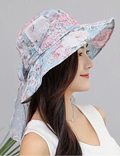 billige Trendy hatter-Dame Solhatt - Sløyfe, Blomstret