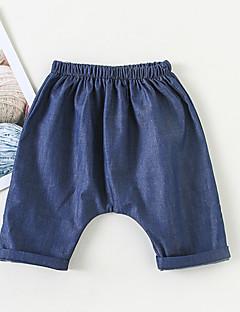 billige Babyunderdele-Baby Pige Aktiv Ensfarvet Bomuld Bukser