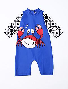 billige Badetøj til drenge-Børn Drenge Trykt mønster Halvlange ærmer Badetøj
