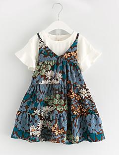 billige Tøjsæt til piger-Børn Pige Daisy Blomstret Kortærmet Tøjsæt