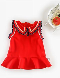 billige Babytøj-Baby Pige Ensfarvet Uden ærmer Kjole