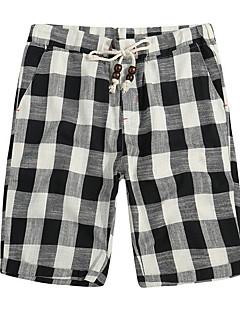 billige Herre Mode Beklædning-Herre Basale Shorts Bukser Ruder
