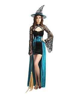 billige Voksenkostymer-Trollmann / heks Kostume Unisex Halloween / Karneval / Maskerade Festival / høytid Halloween-kostymer Blå Ensfarget / Halloween Halloween