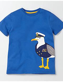 billige Overdele til drenge-Børn / Baby Drenge Trykt mønster Kortærmet T-shirt