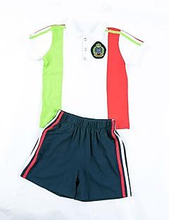 billige Tøjsæt til drenge-Børn Pige Drenge Patchwork Kortærmet Tøjsæt