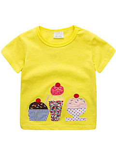 billige Pigetoppe-Børn / Baby Pige Patchwork / Frugt Kortærmet T-shirt