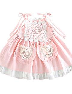 billige Babykjoler-Baby Pige Farveblok Uden ærmer Kjole