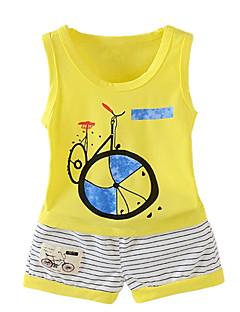 billige Tøjsæt til drenge-Børn Drenge Ensfarvet Uden ærmer Tøjsæt