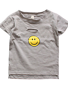 billige Overdele til drenge-Børn Drenge Trykt mønster Kortærmet Bluse