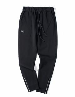 billige Herre Mode Beklædning-Herre Sporty Joggingbukser Bukser Ensfarvet