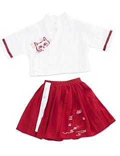 billige Tøjsæt til piger-Børn Pige Trykt mønster Halvlange ærmer Tøjsæt