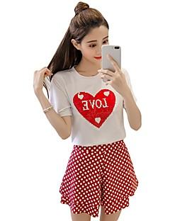 Women's Cotton T-shirt - Polka Dot / Cotton