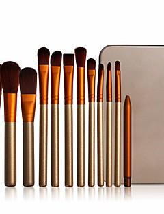 billiga Sminkborstar-12st Makeupborstar Professionell Borstsatser Nylon fiber Miljövänlig / Mjuk Trä / Bambu