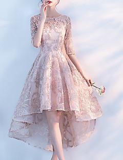 Χαμηλού Κόστους Γυναικεία Φορέματα-Γυναικεία Πάρτι Swing Φόρεμα Ως το Γόνατο / Δαντέλα