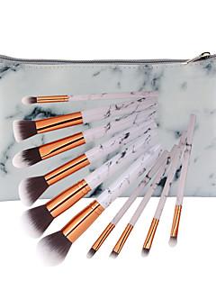 billiga Sminkborstar-10-Pack Makeupborstar Professionell Rougeborste / Ögonskuggsborste / Läppensel Nylon fiber Fullständig Täckning Trä / Bambu