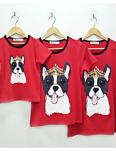 billige Sett med familieklær-Mamma og meg Dyr Kortermet T-skjorte