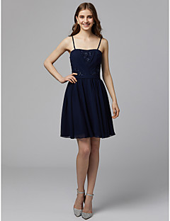 cheap Homecoming 2018-A-Line Strapless Short / Mini Chiffon Cocktail Party / Prom Dress with Beading / Appliques / Pleats by TS Couture®