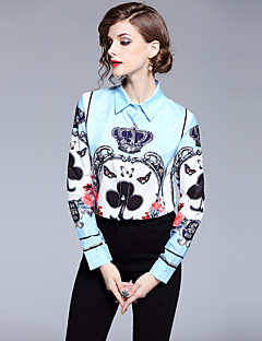 billige Dametopper-Skjorte Dame - Geometrisk, Trykt mønster Aktiv / Gatemote