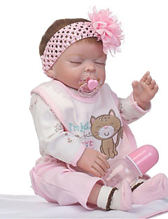 cheap -NPKCOLLECTION NPK DOLL Reborn Doll Girl Doll Baby Girl 22 inch Full Body Silicone Vinyl - Newborn Gift Hand Made Kid's Girls' Toy Gift