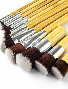 baratos -11pçs Pincéis de maquiagem Profissional Conjuntos de pincel Escova de Fibra Artificial / Escova de Nailom Amiga-do-Ambiente / Profissional / Macio Bambu / De madeira / bambu