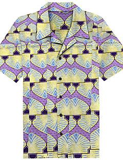 billige Herremote og klær-Skjorte Herre - Tribal Strand / Kortermet