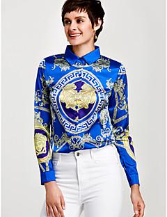 お買い得  レディースシャツ-女性用 ワーク - プリント シャツ モダンシティ シャツカラー ストライプ