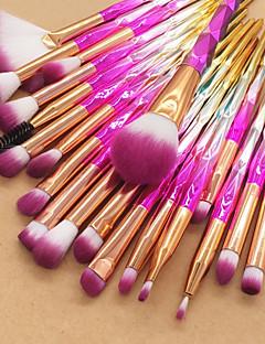 baratos -Conjunto - 20 Pincéis de maquiagem Profissional Conjuntos de pincel / Pincel para Blush / Pincel para Sombra Fibra de Nailom / Fibra Macio / Cobertura Total Plástico